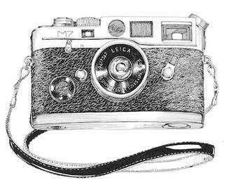 M7 Leica Art Print Vintage Camera