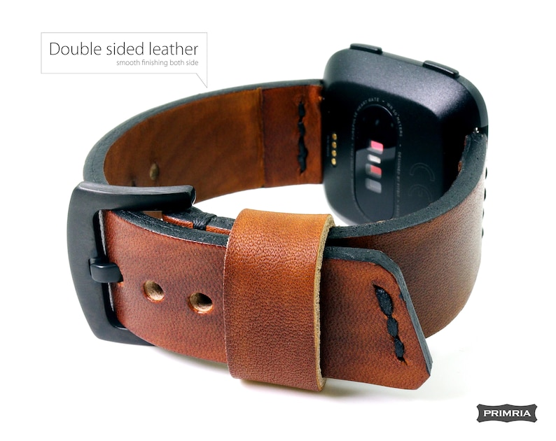 Fitbit Versa Replacement Saddle Leather Watch Straps Wrist bands