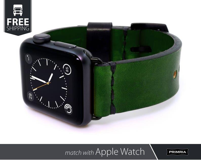 29da7bbc771036 Apple Watch Band Handmade Leather Watch Strap / Vintage | Etsy