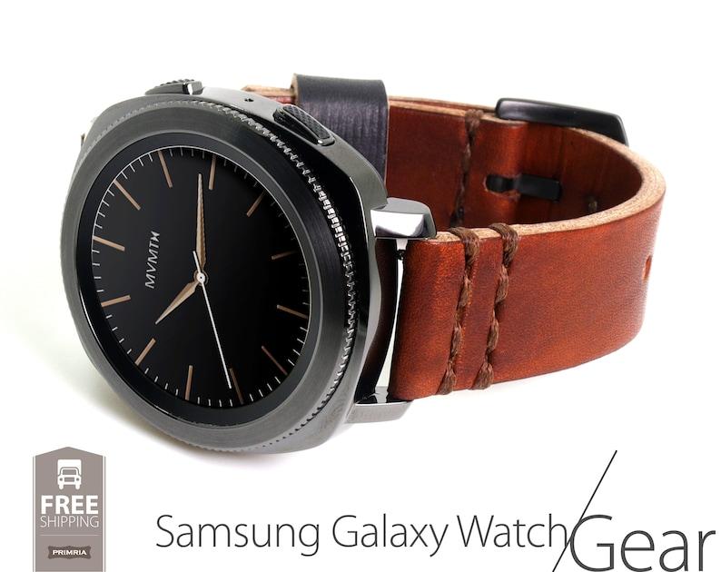 96496f621 Handmade Leather Watch Straps Samsung Galaxy Watch / Gear | Etsy
