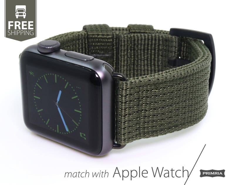 pretty nice 867b6 0ee72 Apple Watch Series - Nylon Nato Heavy Duty Watch Strap / Watch Band  (Adapters Included)