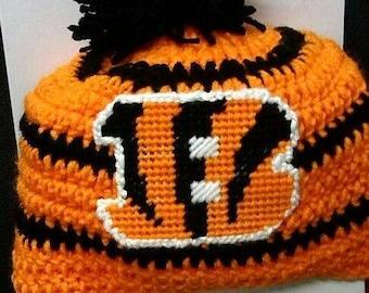 06857fda Crochet bengals hat | Etsy
