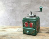 Armin Trösser - 1950s vintage German manual coffee grinder, 39 Bauernmalerei 39 folk-art style コーヒーグラインダー RECONDITIONED AND SERVICED
