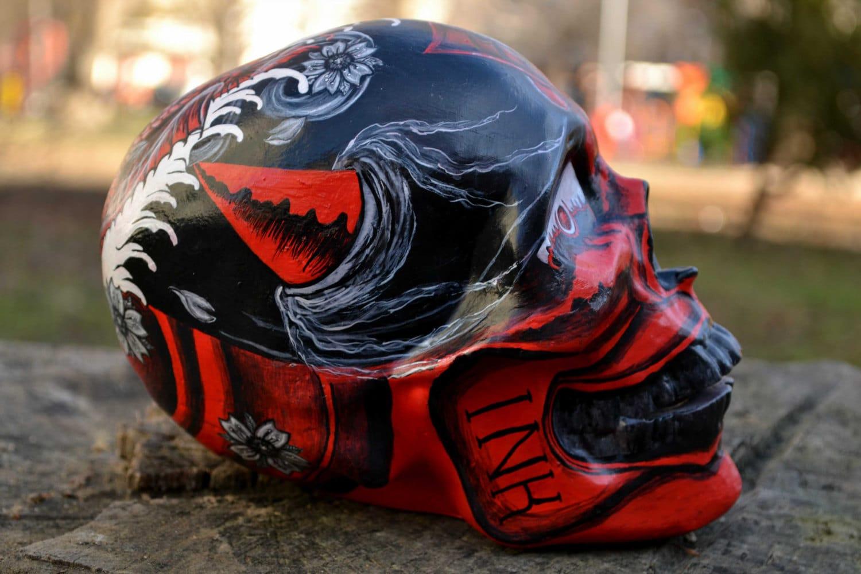 a0108749b2a87 Unique Handmade Handpainted Japanese Hannya Mask Tattoo Art | Etsy