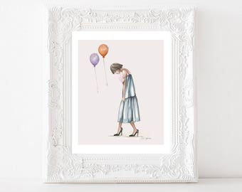Quirky emotional art // wall art print // gifts