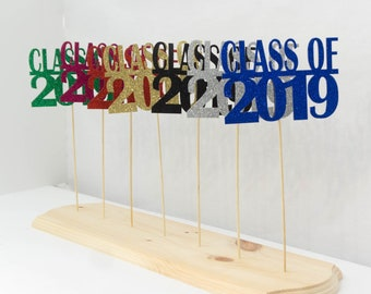 Class of 2019, Graduation Decoration, 2019, Graduation Centerpiece Sign, Photo Prop, Available in 8 Colors!