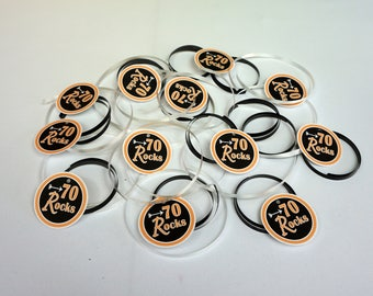 70 Rocks Favor Tags, Available in 9 Colors, 70th Birthday Favor Tags, 70th Birthday Decoration, other ages available