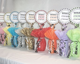 Party Decoration, What Happens at the Party Centerpiece Sign, Available 9 colors, 21st Birthday, 30th Birthday, 50th, Birthday,60th Birthday