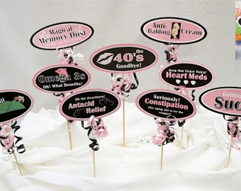 50th Candy Buffet Signs available in 9 colors, 50th Birthday Decorations, 50th Party Decor, 50th Centerpiece Signs with Smooth Border