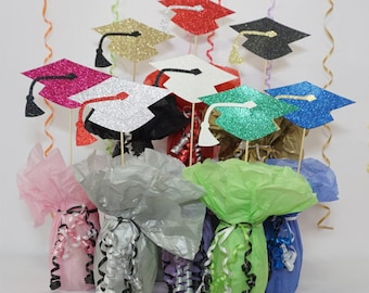 Graduation Cap, Available in 8 Glitter Card Stocks, Graduation Hat, Graduation Centerpiece Sign, Graduation Photo Prop