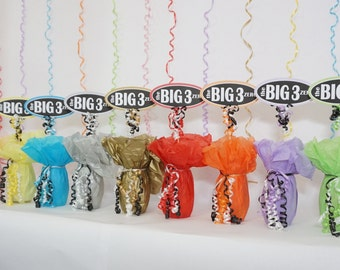 The Big 3 Zero, 30th Birthday Decoration, Available in 9 Colors and additional ages, 30th Birthday Centerpiece Sign, The Big 30