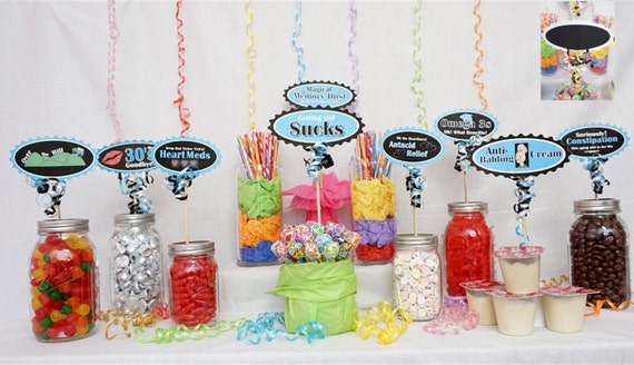 Admirable 40Th Candy Buffet Signs Available In 9 Colors 40Th Birthday Decorations 40Th Party Decor 40Th Centerpiece Signs With Crank Border Download Free Architecture Designs Terstmadebymaigaardcom