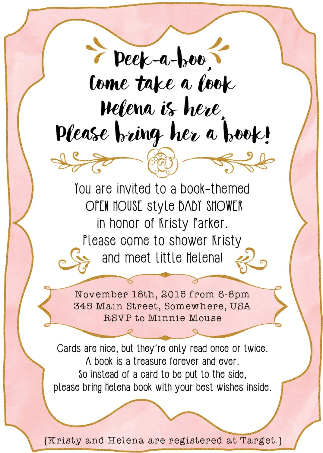 After Baby Is Born Baby Shower Invitation With A Book Theme Etsy