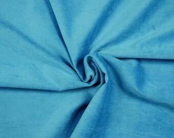 S/&W Stoffe hellpetrol doubleface meliert 150 cm uni Micro Fleece
