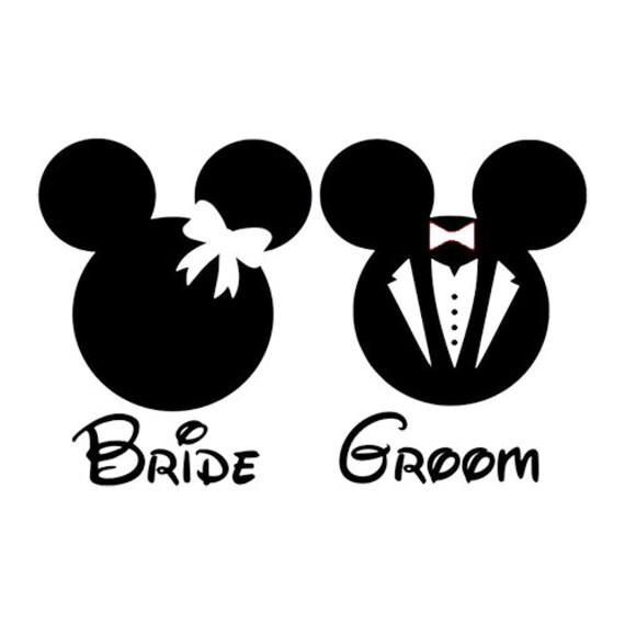 Disneys Mickey Minnie Bride Bruidegom Svg Digitale Bestand