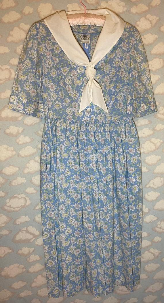 Laura Ashley Pastel Sailor Collar Cottagecore Dres