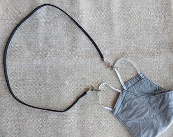 Mask Chain Black Baseball Glove Leather