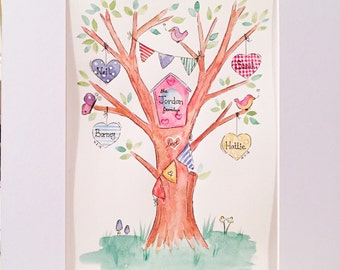 Family tree paintings made to order