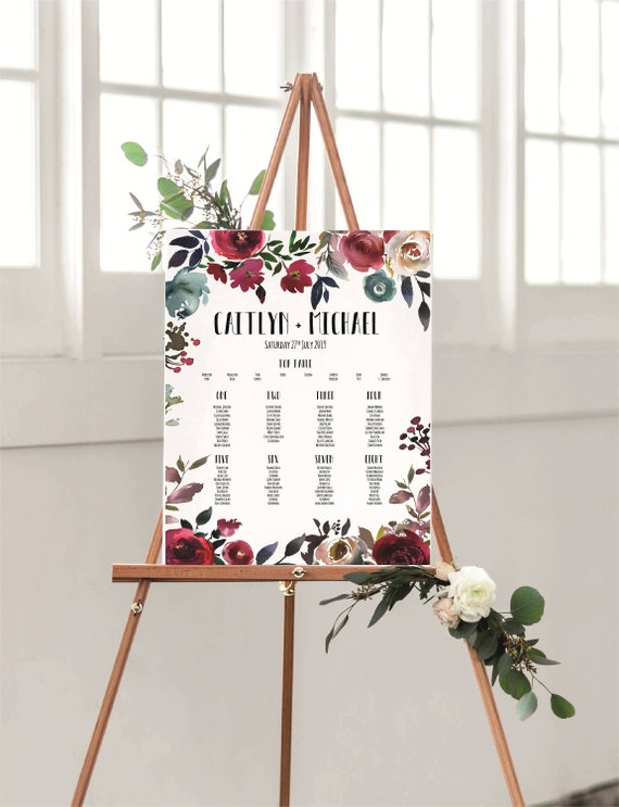 A3 floral /'Today I marry my best Friend/' Welcome to our Wedding Sign-Backed or UnbackedUnframed-FREE UK POSTAGE