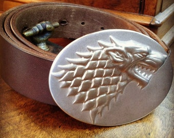 Winter is Coming Game of Thrones Direwolf Stainless Steel Belt Buckle