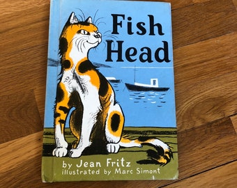 Vintage children's book Fish Head Jean Fritz story kid picture