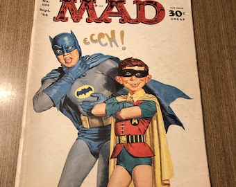MAD Magazine September 1966 105 Batman and Robin vintage comic collector