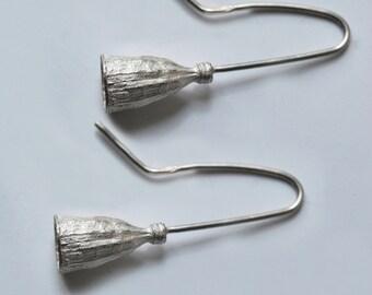 925 silver dangling earrings, poppy curls