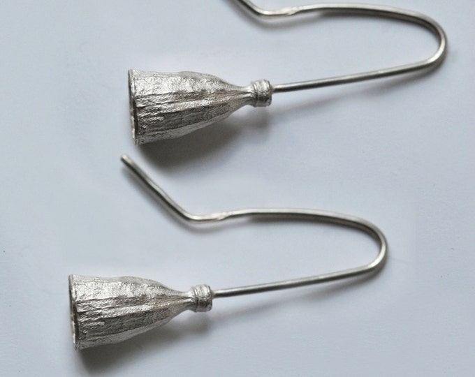 925 silver dangling earrings, poppy curls