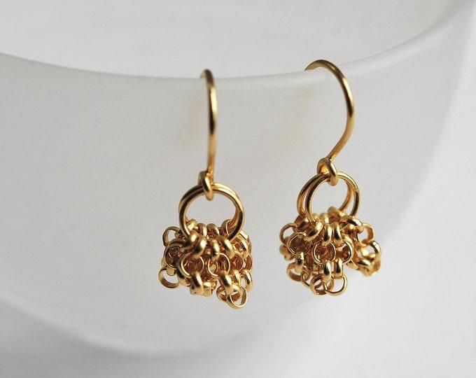 Boucles d'oreilles pendantes en plaqué or, boucles chaîne