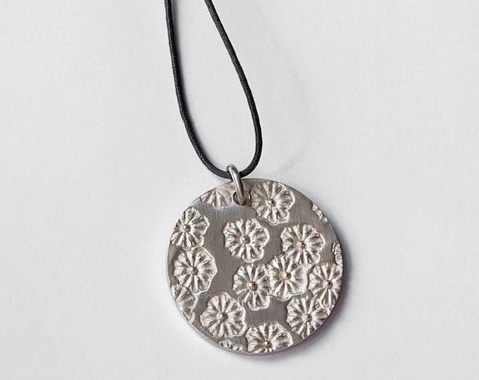 """Massive silver pendant """"poppy"""""""