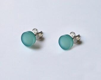 Round earrings colors in Plexiglas, earrings
