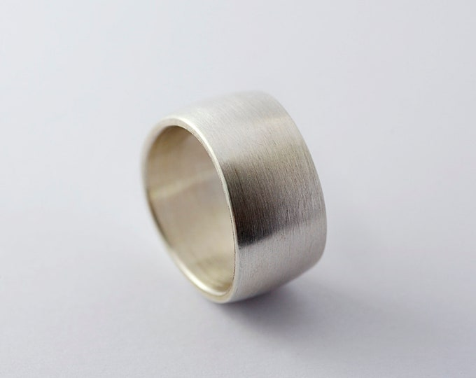 Ring for men Alliance in solid silver or gold, ring for men and women, Ring Zig Zag