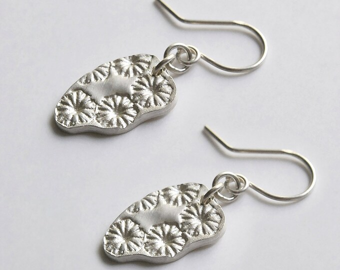 Earrings dangle poppy in 925 Silver