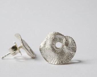 Silver earrings, 18-karat gold earrings