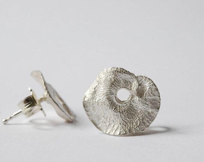 Boucles d'oreilles feuilles en argent