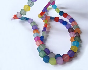 Long-coloured plexiglass necklace