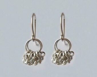 Dangling earrings in 925 Silver