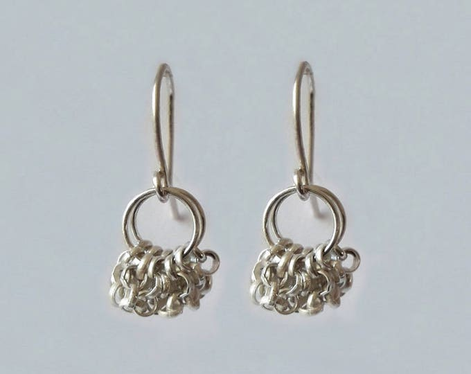 Dangling earrings in 925 Silver