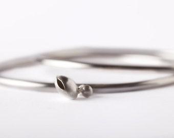925 silver single bracelet, bracelet with charm