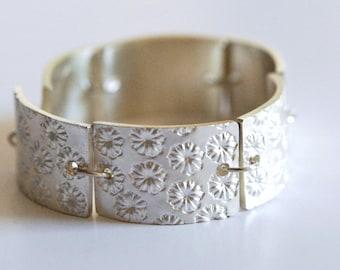 Solid silver bracelet, adjustable size