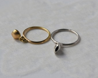 Ring with gold stamp, women's ring