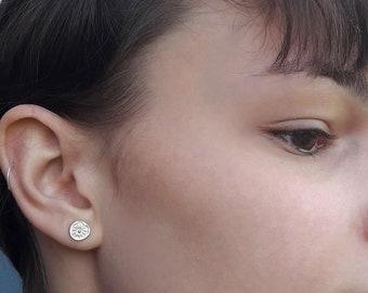 Silver earrings, Poppy earrings
