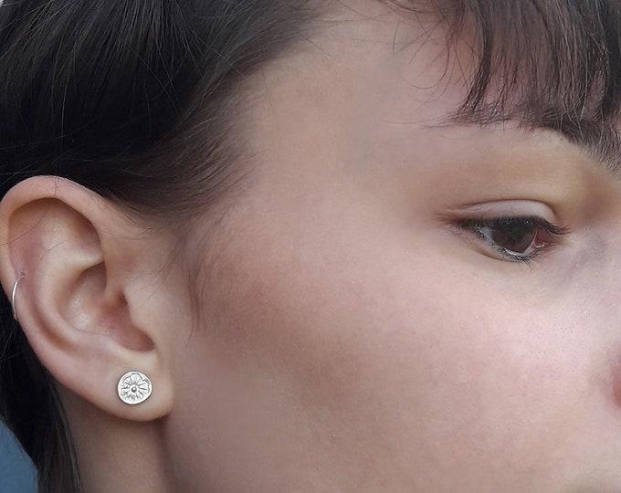 Silver ear chips 925, thin ear chips