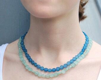 Plexiglas superimposed necklace, 2-color jumper necklace