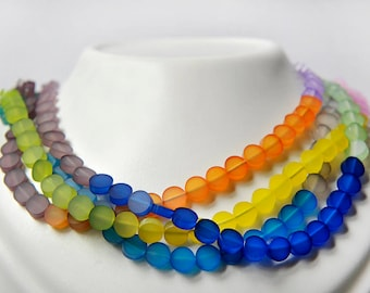 Multicolor acrylic necklace, can be worn in different ways, colors and lightness