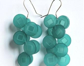 Plexiglas dangling earrings