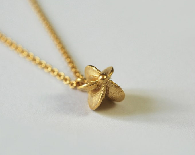 Gold-plated pendant, seed collar pendant, handmade