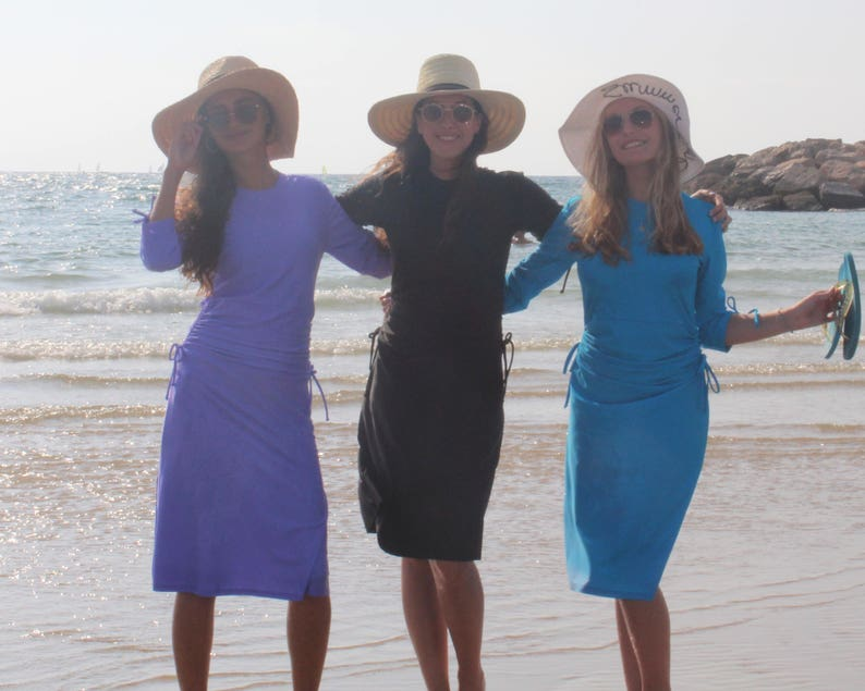 06c7b5f36fb59 Aqua Modesta style 2601 Ladies swim dress/ cover-up | Etsy