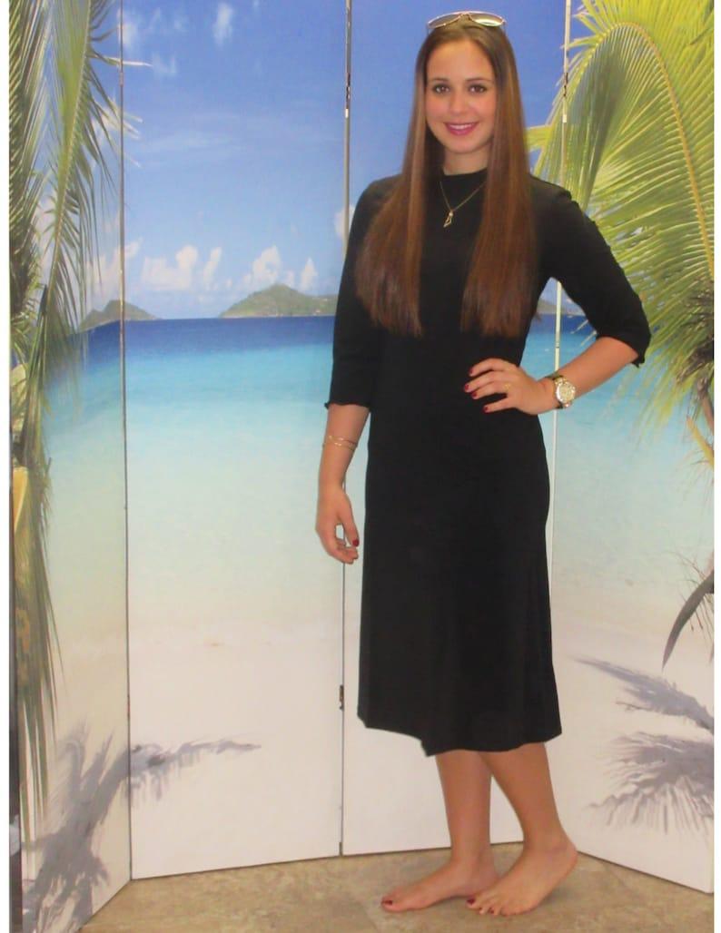 5b590ca9bfea6 Aqua Modesta Modest swim dress style 2600A-1 | Etsy