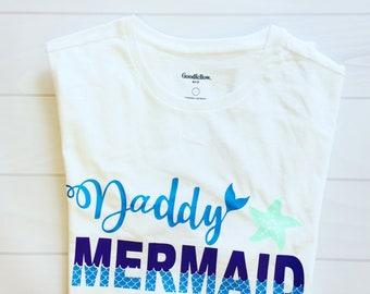 5cc3d170 Daddy Mermaid | Custom Shirt | Father Of the Birthday Girl | Family Shirts